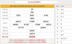 xo so Dak Lak thu 3 ngay 30122014