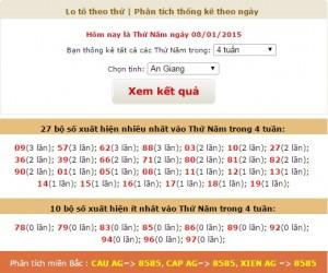 loto xo so An Giang thu 5 ngay 8-1-2015