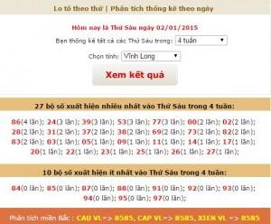 loto xo so Vinh Long thu 6 ngay 2-1-2014