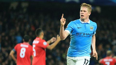 De Bruyne lập công phút chót giúp Man City chiến thắng