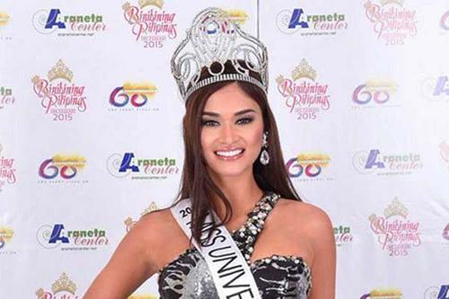 Pia Wurtzbach khi đăng quang Hoa hậu Hoàn vũ Philippines. Ảnh: politics