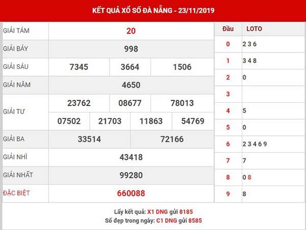 Thống kê xổ số Đà Nẵng thứ 4 ngày 27-11-2019